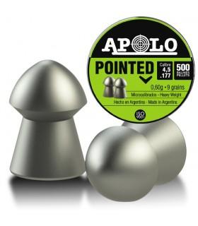 Balines APOLO para carabinas de Aire comprimido Pointed Cal. 4,5 - 0,6 gramos