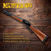 Carabina Mustang, la más divertida. 🤠🎯. Palanca de recarga, para disparar si dejar de apuntar.   #pcp #airguns #pcpairrifle #pcpairgun #underlever #pellet #carabina #huntingfieldtarget